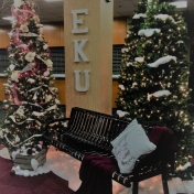 Perkins Building - Lobby at Christmas Time