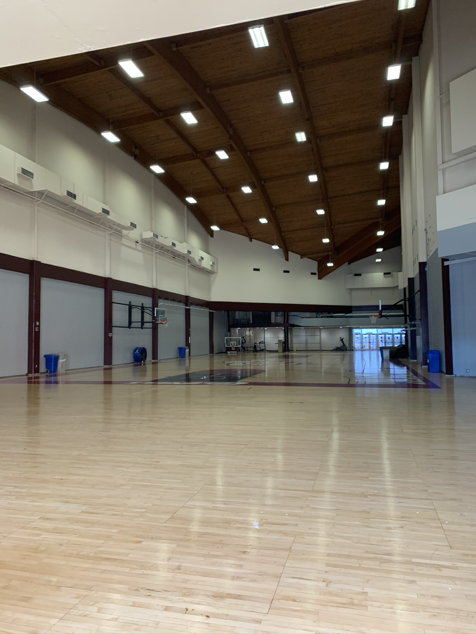 Alumni Aux Gym View looking southward